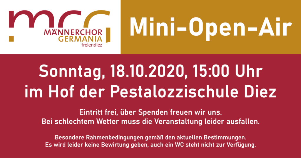 Info-Bild Mini-Open-Air 18. Oktober 2020
